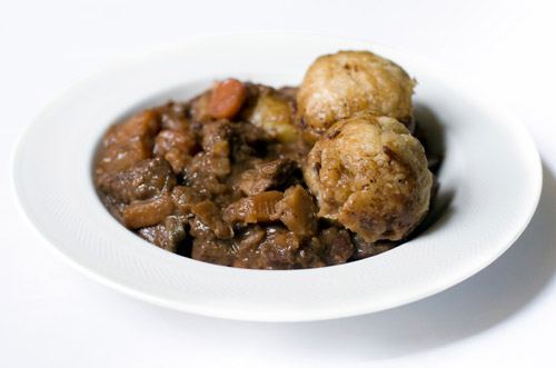 Beef Stew and Horseradish Dumplings